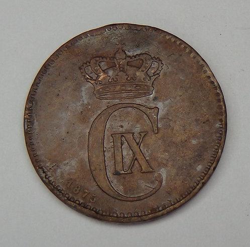Denmark - 1875 - 2 Ore