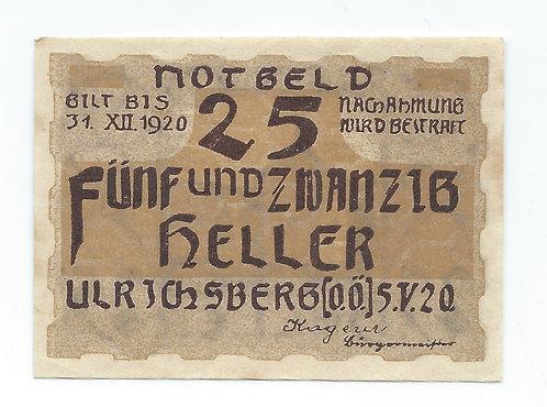 Austria - 25 Heller - 1920