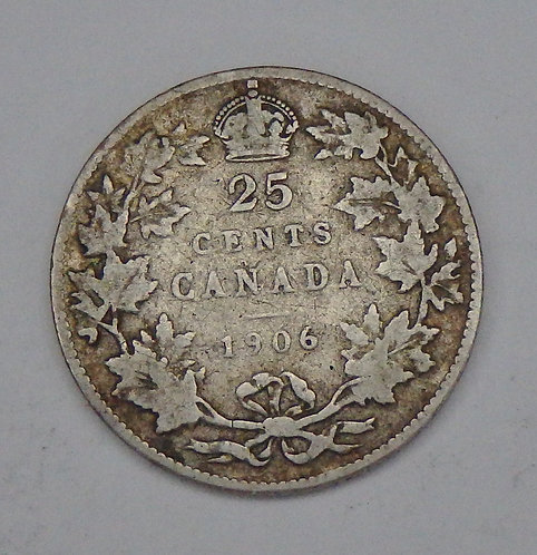 Canada - 25 Cents - 1906