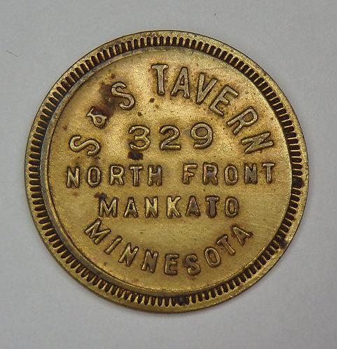 Minnesota, Mankato - S & S Tavern Token