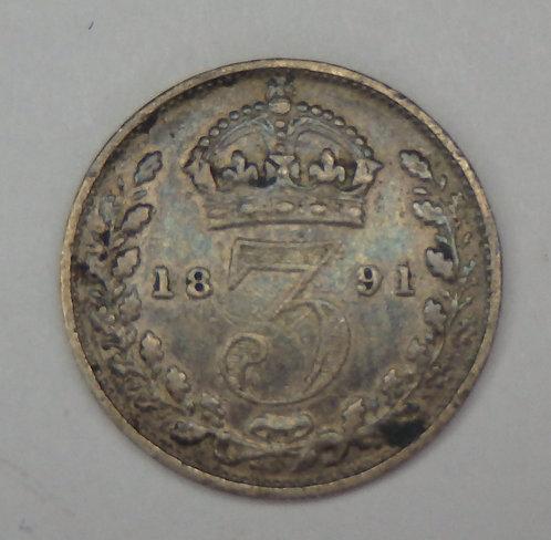 Great Britain - 3 Pence - 1891