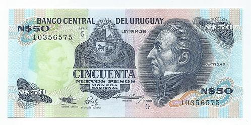 Uruguay - 50 Nuevos Pesos - 1989