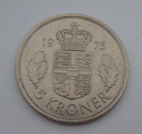 Denmark - 5 Kroner - 1975$B