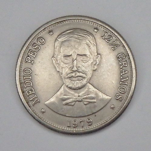 Dominican Republic - Half Peso - 1979