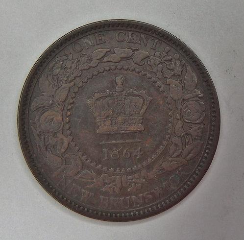 Canada-New Brunswick - Cent - 1864