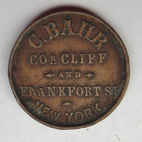 1863 Civil War Store Card Token