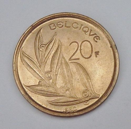 Belgium - 20 Francs - 1980