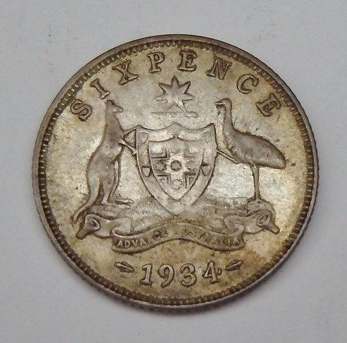 Australia - 6 Pence - 1934