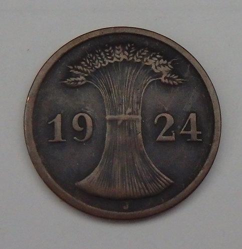 Germany - 2 Rentenpfennig - 1924J