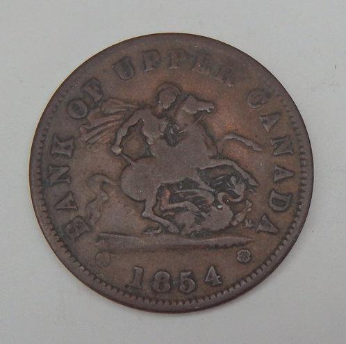 Canada/Upper Canada - Penny - 1854