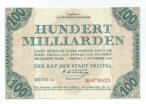 Germany - 100 Milliard - 1923