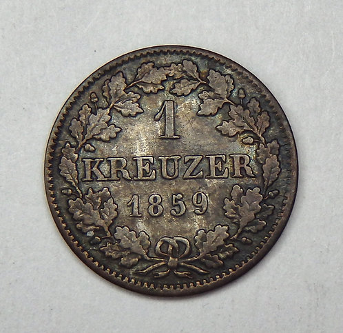 Germany-Bavaria - Kreuzer - 1859