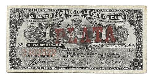Cuba - 1 Peso - 1896