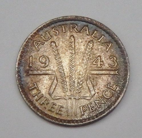 Australia - 3 Pence - 1943