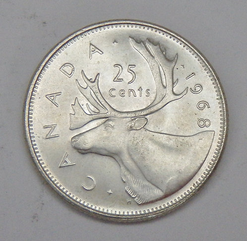 Canada - 25 Cents - 1968