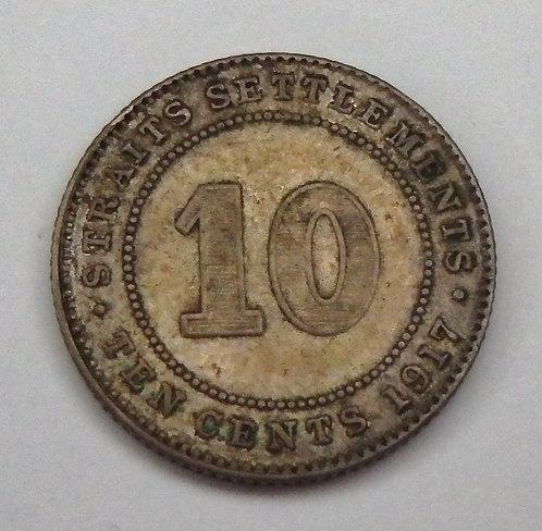 Straits Settlements - 10 Cents - 1917