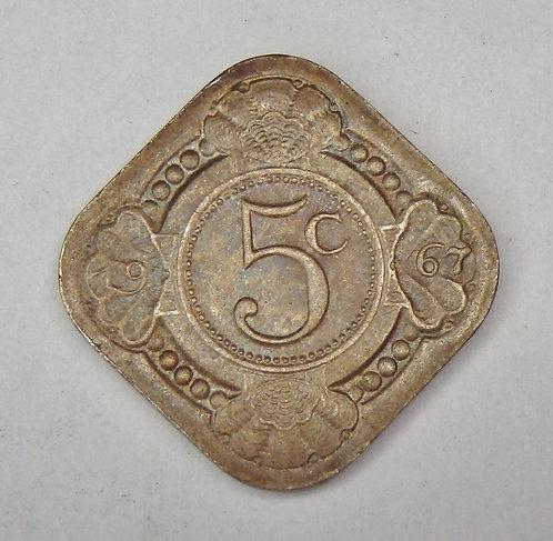 Netherlands Antilles - 5 Cents - 1967