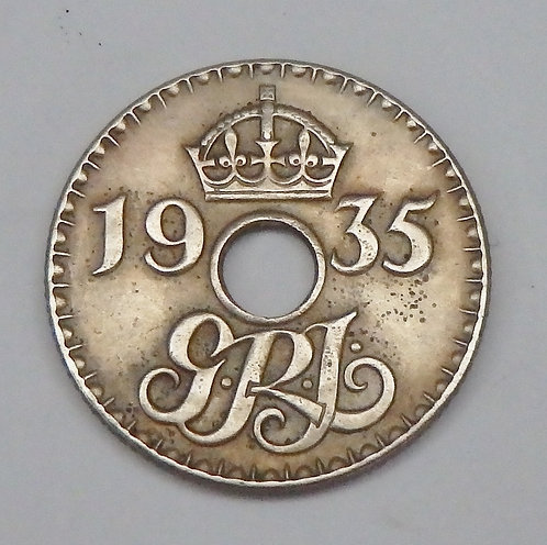 New Guinea - 6 Pence - 1935