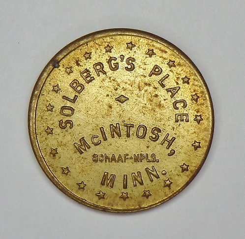 Minnesota, McIntosh - Solberg's Place Token