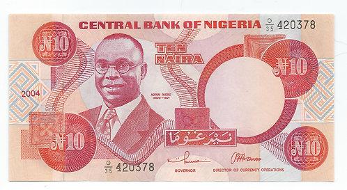 Nigeria - 10 Naira - 2004