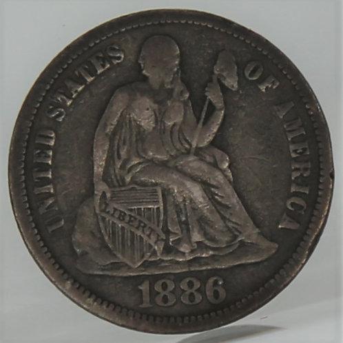 1886 Liberty Seated Dime
