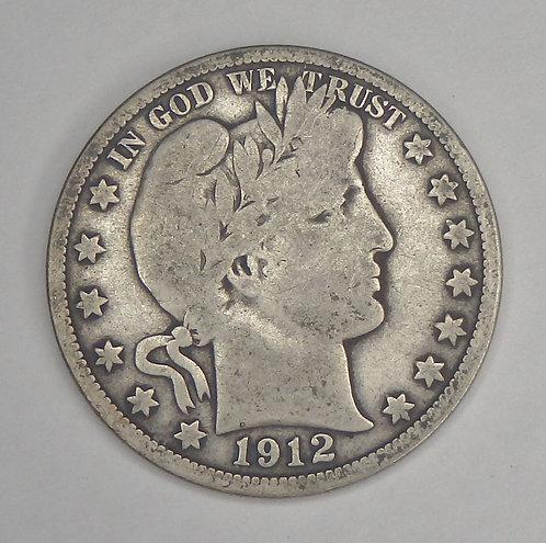 1912 Barber Half Dollar