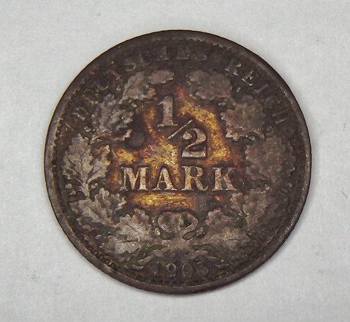 Germany - 1/2 Mark - 1905-A