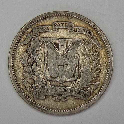 Dominican Republic - 25 Centavos - 1944