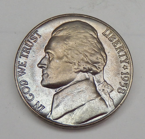 1958-D Jefferson Nickel
