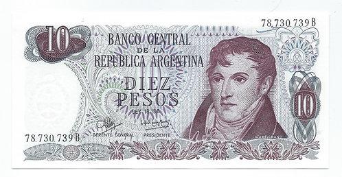 Argentina - 10 Pesos - 1970-73