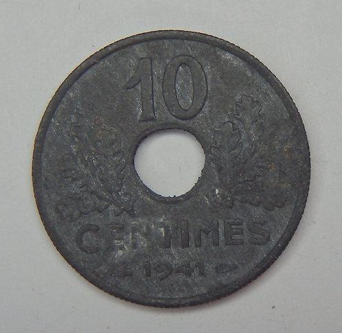 France - 10 Centimes - 1941