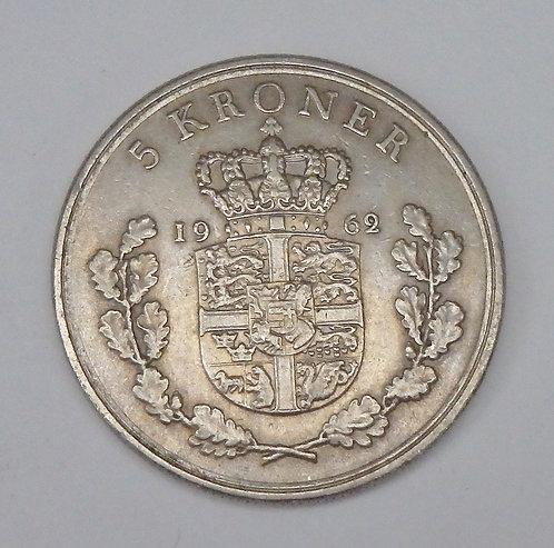 Denmark - 5 Kroner - 1962