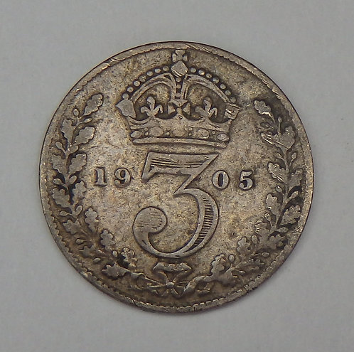 Great Britain - 3 Pence - 1905