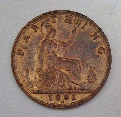 Great Britain - Farthing - 1881-H