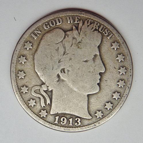 1913-D Barber Half Dollar