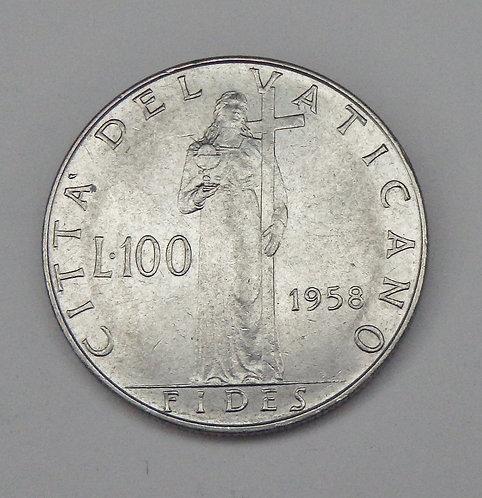 Vatican City - 100 Lire - 1958