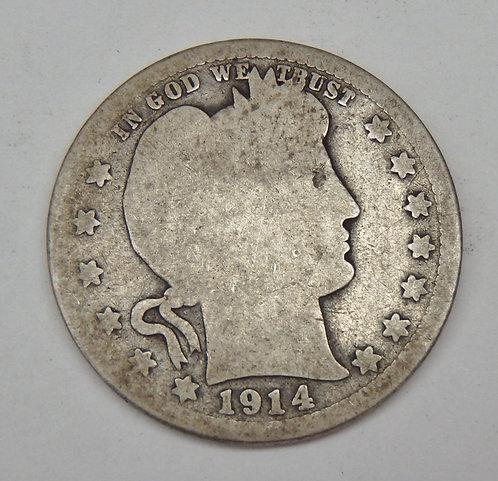 1914-S Barber Quarter