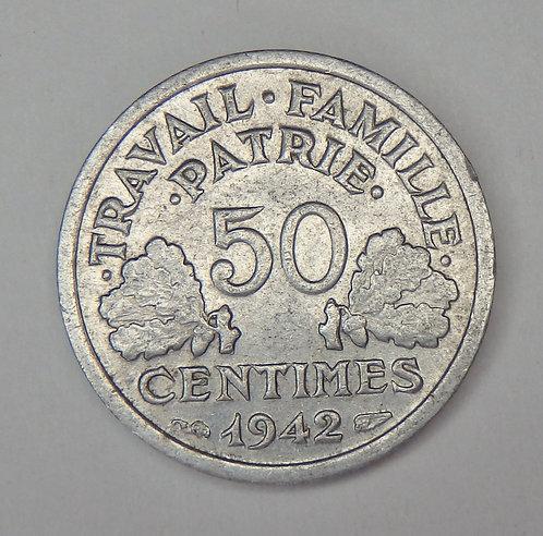 France - 50 Centimes - 1942