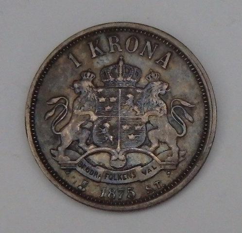 Sweden - Krona - 1875-TS