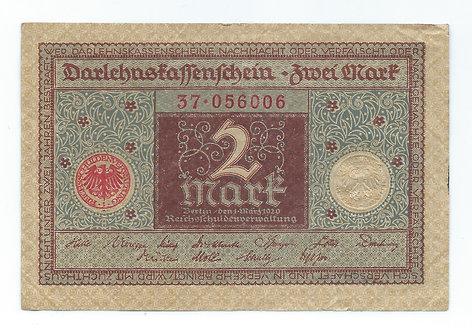 Germany - 2 Mark - 1920