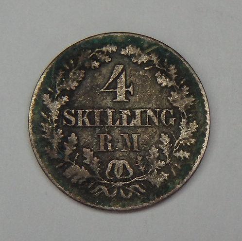 Denmark - 4 Skilling - 1856