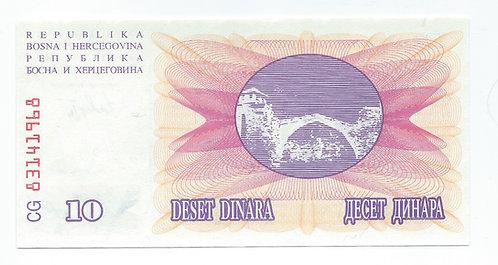 Bosnia-Herzogovina - 10 Dinara - 1992