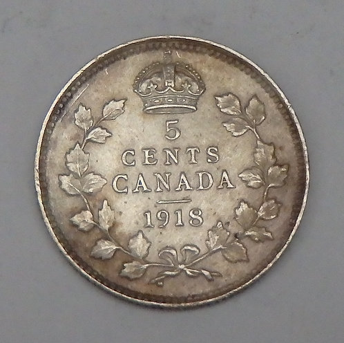 Canada - 5 Cents - 1918