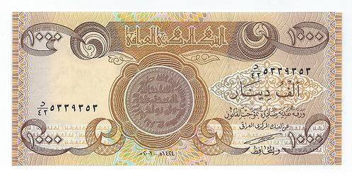 Iraq - 1000 Dinars - 2003