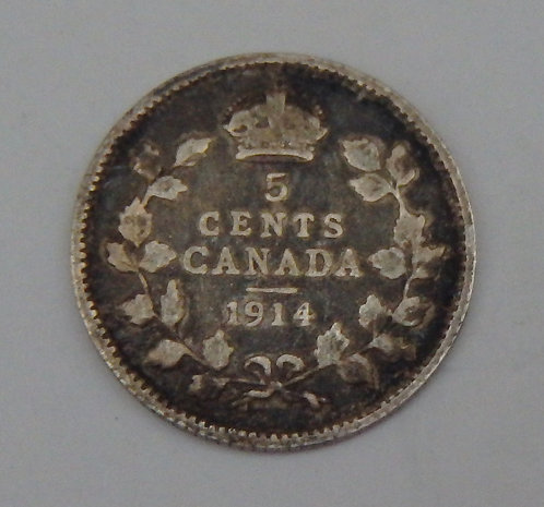 Canada - 5 Cents - 1914