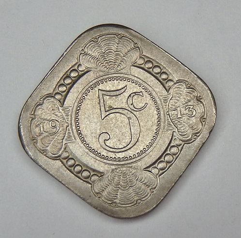 Netherlands - 5 Cents - 1913