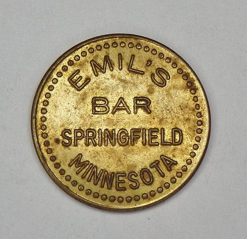 Minnesota, Springfield - Emil's Bar Token
