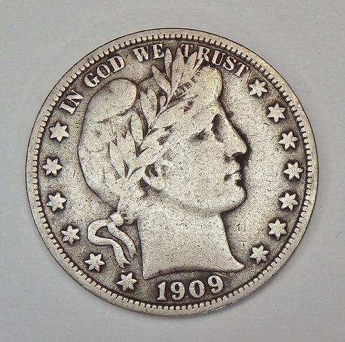 1909-S Barber Half Dollar