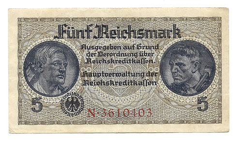 Germany - 5 Reichsmark - 1942-45