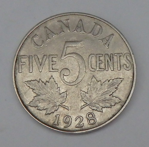 Canada - 5 Cents - 1928